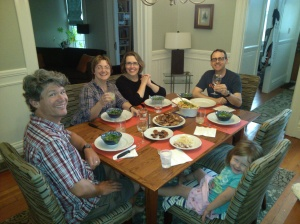 Dinner party with Kelly, Brooke and Sean.