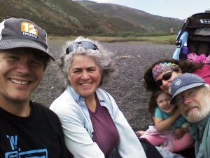 With Nita Winter and Rob Badger at Tennessee Valley Beach in Marin, CA.
