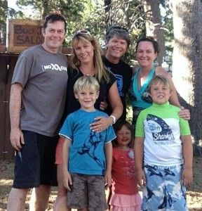 Wright and Slobe Family in Tahoe-Donner.
