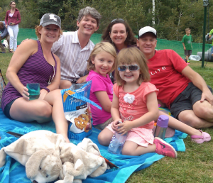 Slobes and the Hendricks family in Park City.