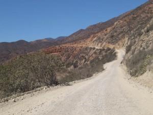 The road to Puerto Santo Tomas