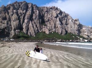 Brian and Maya at Morro Bay