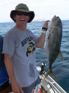 Brian lands a 20 lb. toro fish!