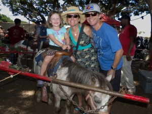 Maya's first pony ride!