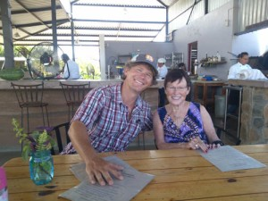 Brian and his mom at Heirbabuena
