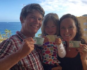 The Slobe Family with our new green cards!