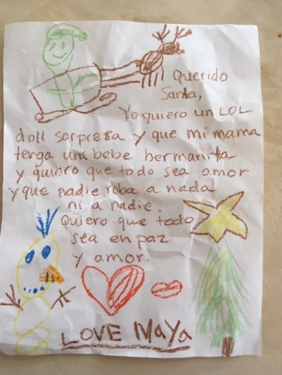 Maya's Letter to Santa
